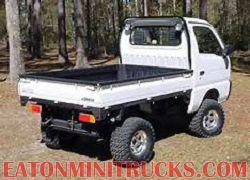 Rhino lining a 4x4 mini truck