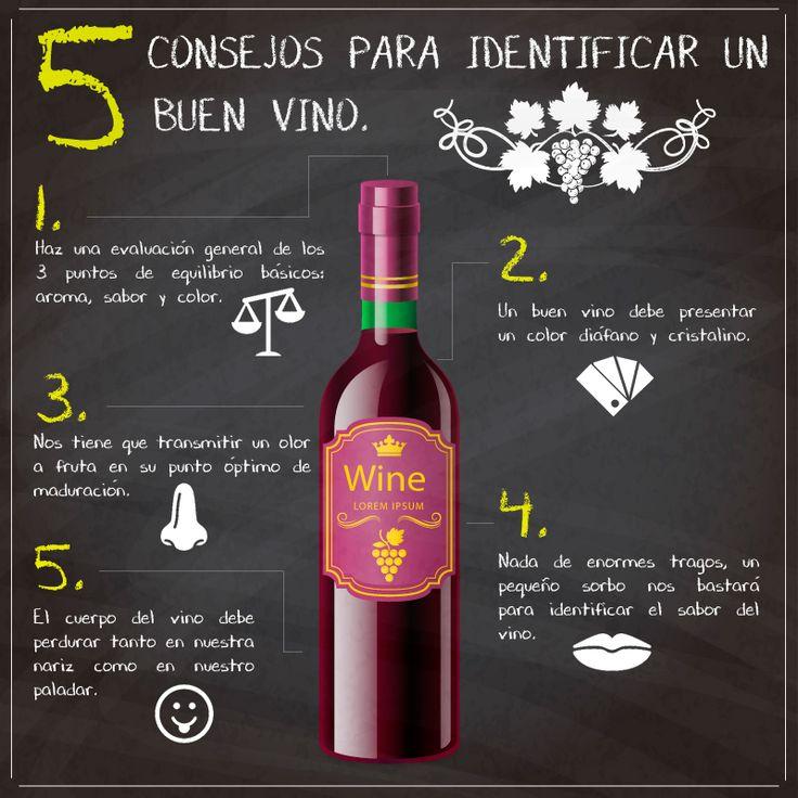 5 consejos para identificar un buen vino - infografía
