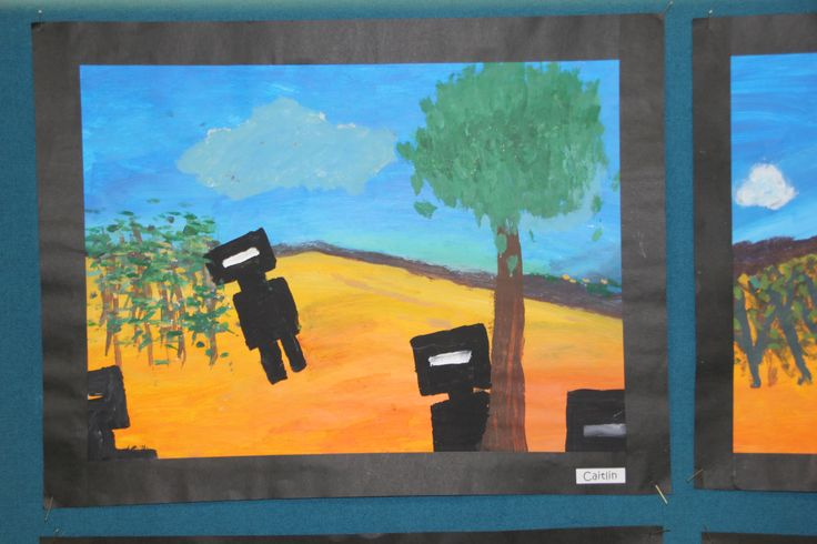 Ned Kelly Created after studies of Sidney Nolan's Ned Kelly Series Acrylic Year 6