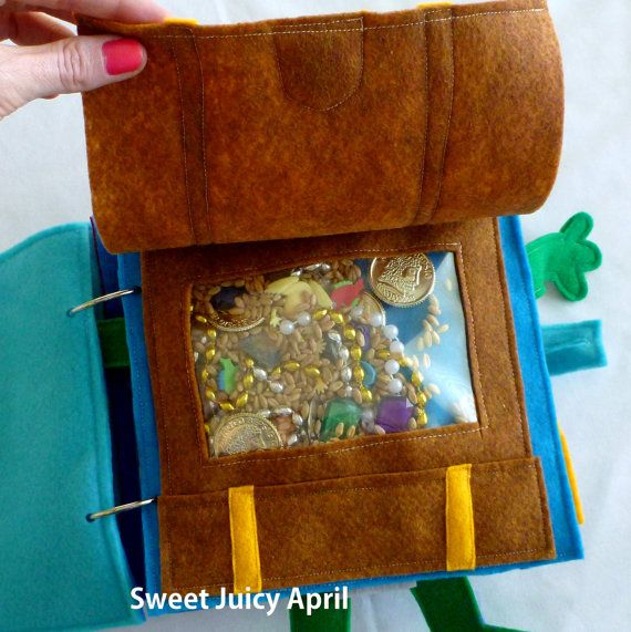 I Spy Treasure Chest Quiet Book Page by SweetJuicyApril on Etsy