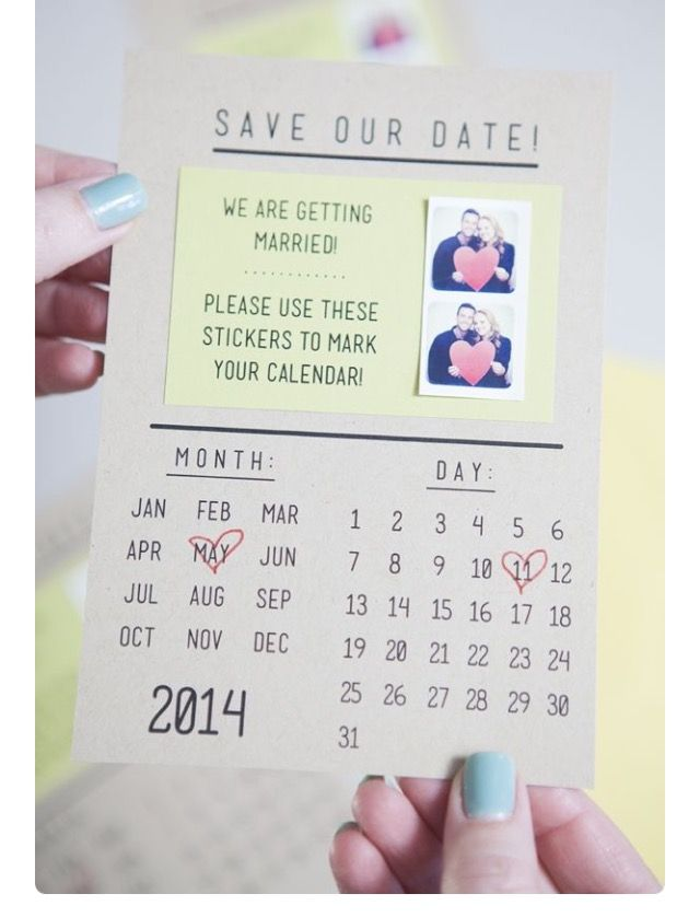 realtree wedding invitations%0A DIY SavetheDate Invitations   print mini stickerpictures using  Printstagram  include them on the invitation so your guests can mark their  calendars