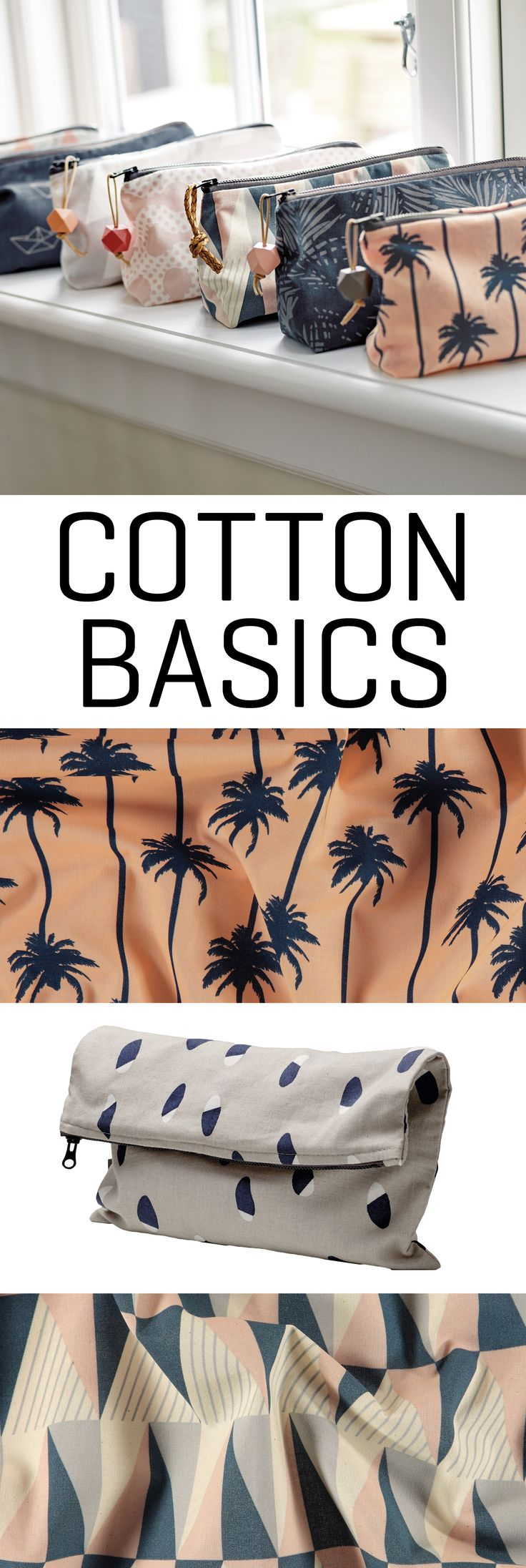 New collection = New basic cotton prints. Go all in with new colours and prints and use it for new DIY projects!