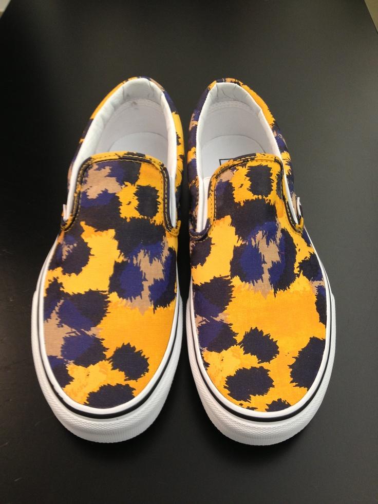 Kenzo #slipon #leopard #yellow #blue #man #shoes