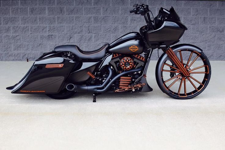A custom Harley-Davidson Road Glide by BX Custom Designs.