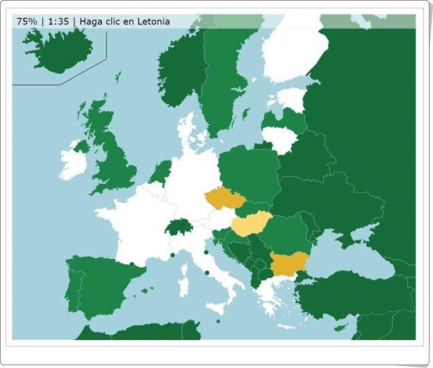 Países de la Unión Europea (Online.seterra.net)