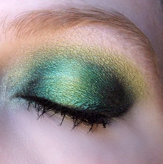 This was inspired by the Green Lantern. I wanted it to almost GLOW What I used: Eyes: Nars Smudgeproof Eyeshadow Primer Base: MAC Lucky Jade Shadestick Outer V Inner Lid: MAC Black Black Pigment Next To Black: MAC Kelly Green Pigment Center Lid/Above Crease: MAC Chartreuse Pigment Under Lower Lash Line and Tear Duct: [...]