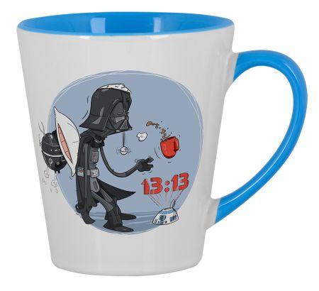 Wake up, Darth! Mug Large Mug Latte Big Design by Konrad Rysuje | Teequilla | Teequilla