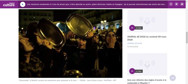 Une Iranienne condamnée à 2 ans de prison pour s'être dévoilée en public, grève féministe inédite en Espagne : de la journée internationale des droits des femmes...
