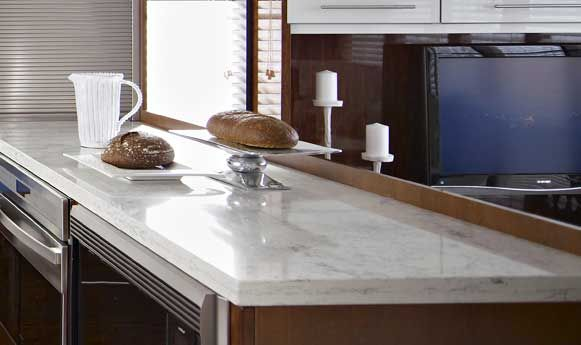 Zodiaq Bianco Carrara Quartz Countertop Looks Just Like Marble Kitchen Counters