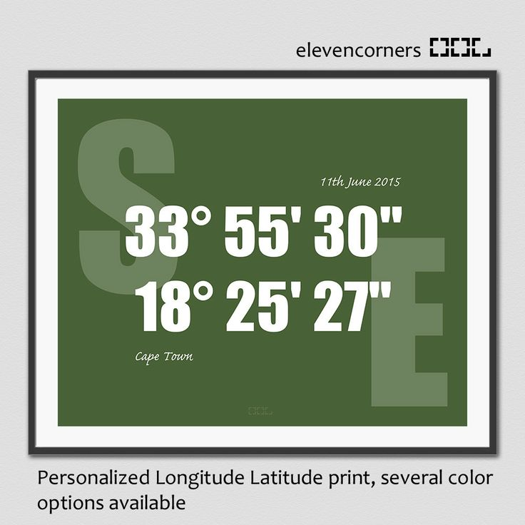 Personalized longitude latitude print | GPS coordinates print | housewarming gift | new home gift | travel print | custom location print by elevencorners on Etsy #elevencorners