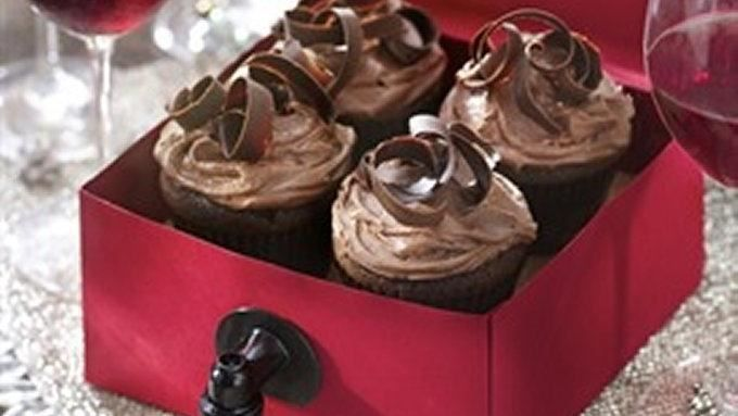 Red Zindandel complements the chocolate flavor in these wine cupcakes. 24 cupcakes