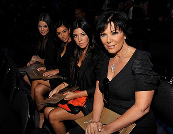 * Kourtney & Kim & Khloe Kardashian & Kris Jenner attend the memorial *