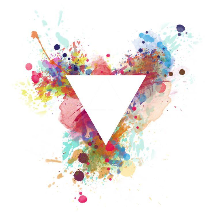 watercolour triangle logo - Google Search