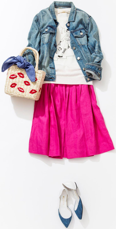 ピンクスカートが主役の鉄板コーデは? ルミネエスト新宿のショップから、春気分を盛り上げるピンク色を使ったコーディネートをレッスン。 人気スタイリストMeguさんがシンプル服にトレンド小物を合わせた、今どき感たっぷりのキレ味のあるコーディネートを提案します!