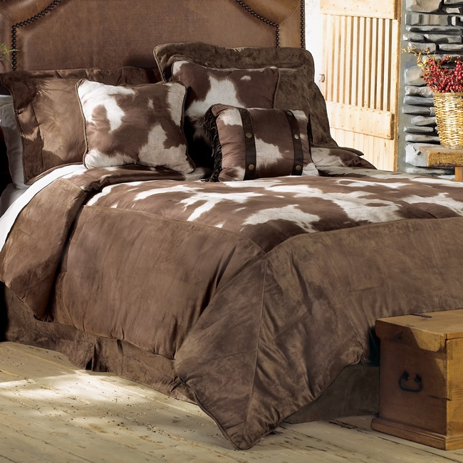 Cowhide Luxury Microfiber Bed Set Super Queen House Ideas Luxury Bedding Collections