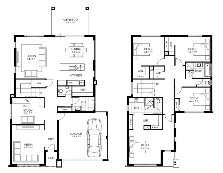 Double Storey Breakthrough Range Perth   apg Homes. 17 Best ideas about Double Storey House Plans on Pinterest