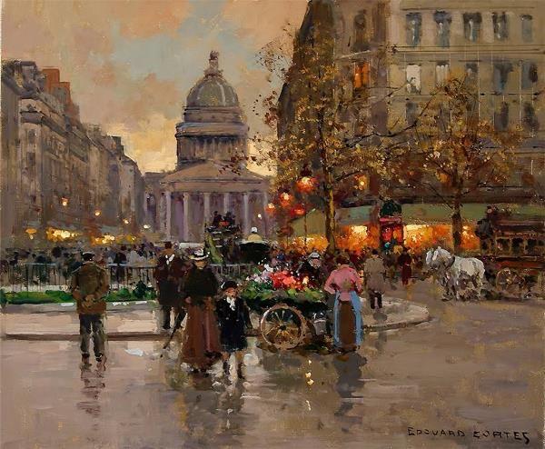 The Pantheon \\ Edouard Leon Cortes French ( 1882 - 1969 )