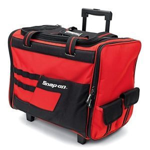 """Snap-on® 18"""" Wide Mouth Rolling Tool Bag w/ Telescoping Handle Wheels - 870113: $59.99  $149.99  (1000 Available) End Date: Aug 07,2016…"""