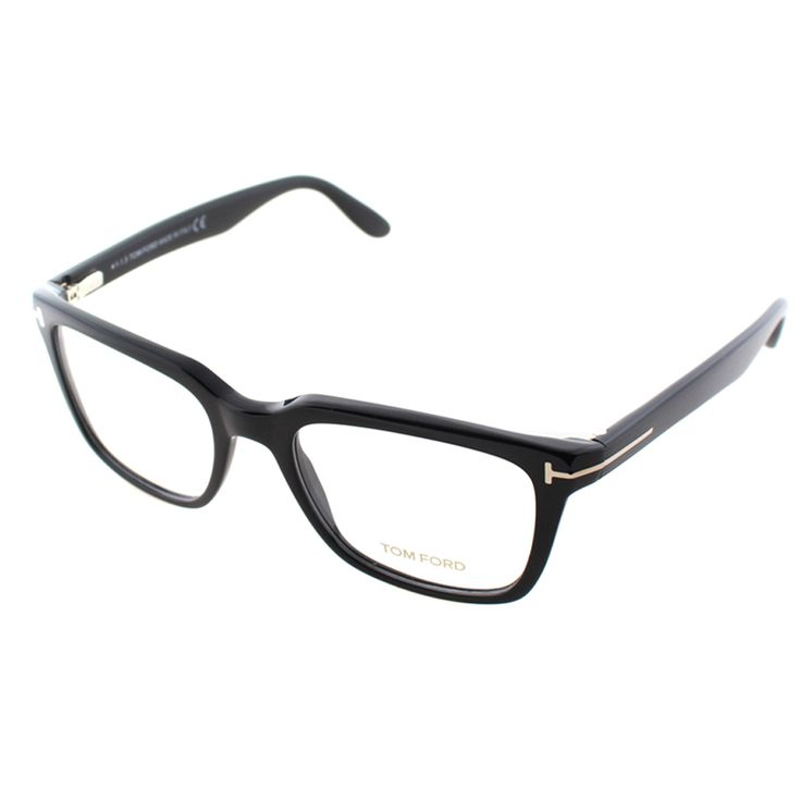 Look great and see well with these stylish Tom Ford glasses, crafted in Italy. The plastic black frames add a scholarly look to any face shape.