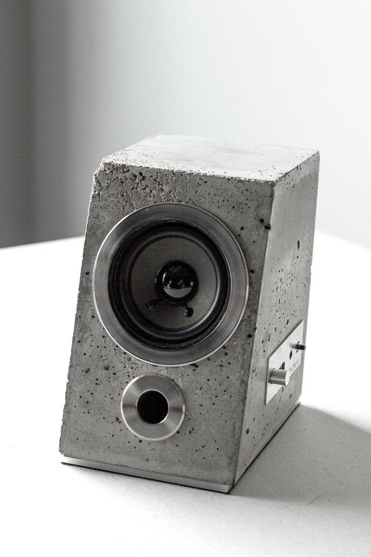 Concretus Bluetooth Speaker Concrete Bluetooth Concrete Concretus Speaker Zementpflanzbehalter Lautsprecher Beton Design