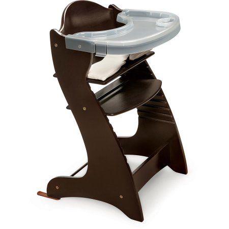 Badger Basket - Wooden High Chair, Espresso, Brown