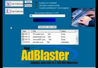 I will give you soft to blast your AD to 2500000 Websites New Marketing System for $3 : hotserver - IXGIG