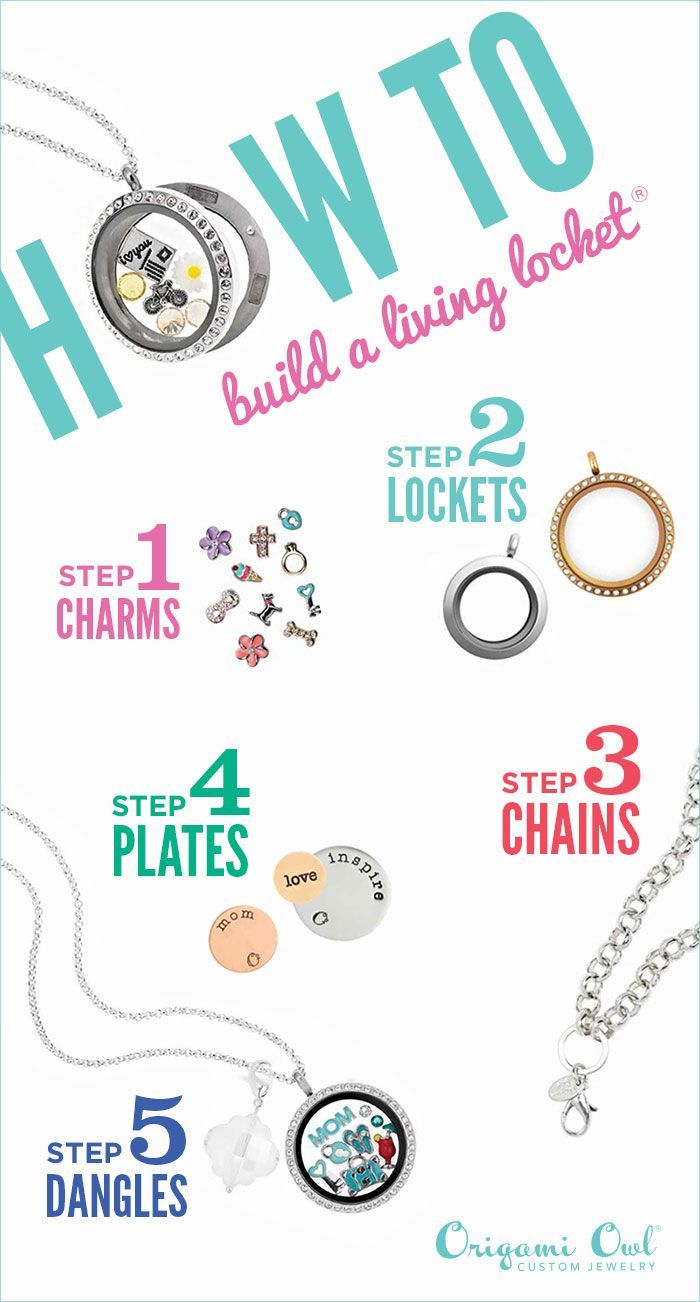 Origami Owl allows you to create a personalized necklace or bracelet in a few quick steps. Build one for yourself or a loved one today!