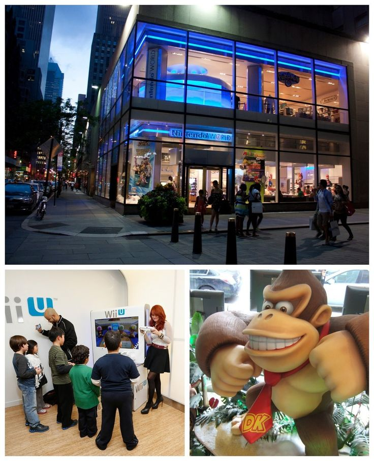 The Nintendo store looks like a cool place to visit too