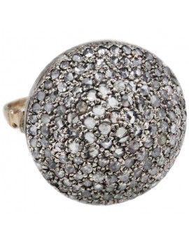 Gold and silver ring with diamonds.