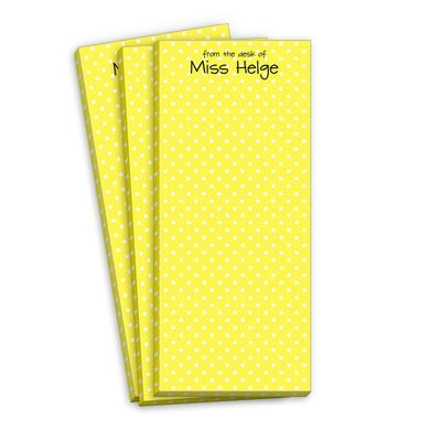 Petite Yellow Dot Skinnie NotepadsYellow Dots, Petite Yellow, Mellow Yellow, Dots Skinny, Skinny Notepad