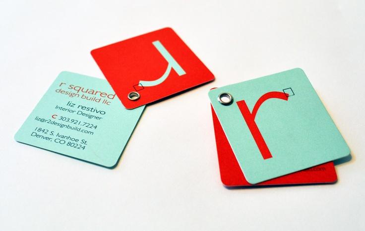 Business card design for interior designer and general contractor from Philosophy Communication - Denver.