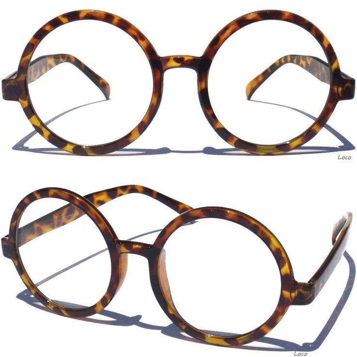 Tortoise Shell Design Frame. Tortoise Shell Pattern Varies. Clear Lens Glasses. Clear Lens. Round Frame. Also Includes A Free Soft Case. | eBay!