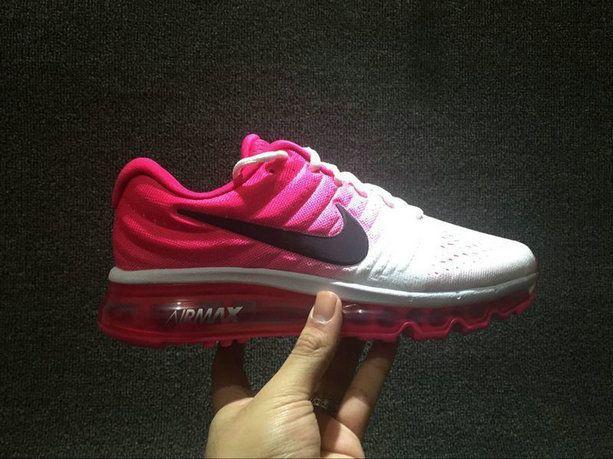 2018 New Nike Air Max 2017 Womens Running Shoes 849560 106 White Purplish  Red