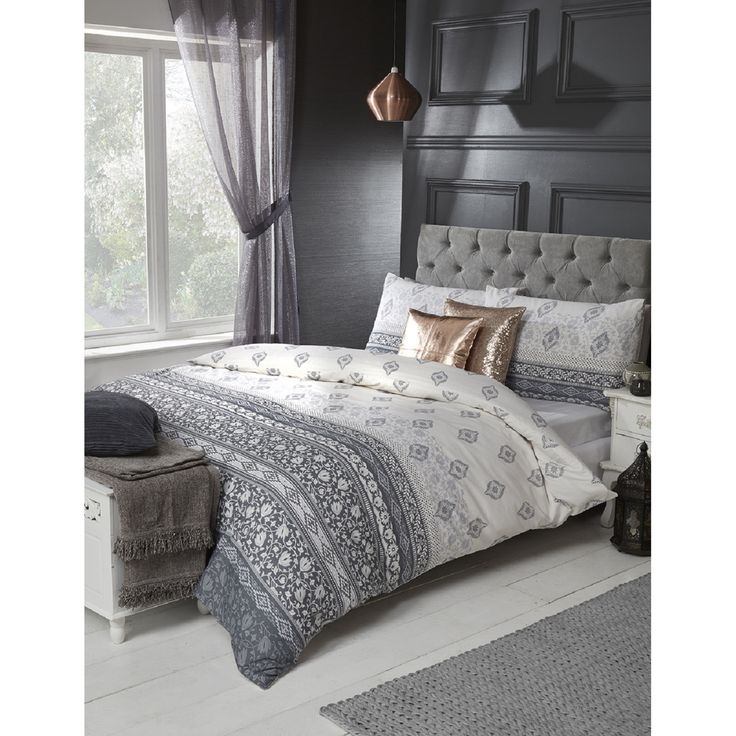 Keats Grey Duvet Set