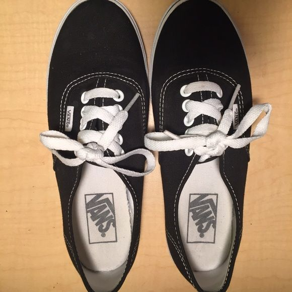 BRAND NEW BLACK VANS WOMANS SIZE 6 Worn 4 times.  Not my style so I am selling. Excellent condition. Feel free to make an offer or ask questions Vans Shoes Sneakers