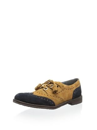 59% OFF Eli 1957 Kid's Colorblock Laceup Wingtip (Cuero/Azul/Azul)