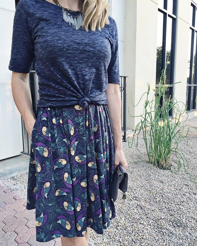 LulaRoe Madison Skirt. You're going to love her! (If you don't already.)  #lularoemadison #madisonskirt #skirtwithpockets