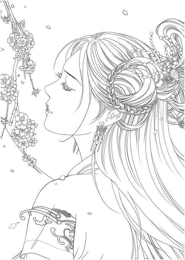 Download Portrait Coloring Book Coloring Book Art Detailed Coloring Pages Coloring Books