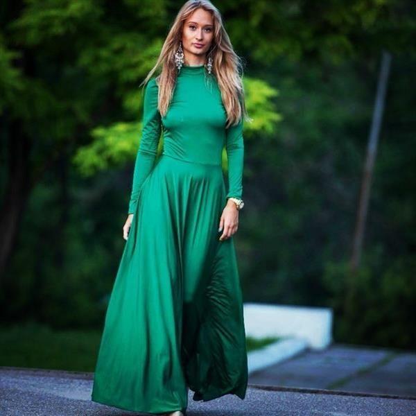 Пошив модной одежды платье трико