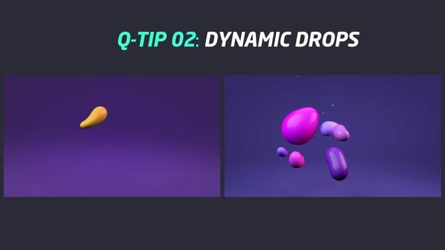 In this video I show an easy way to create an organic and dynamic drop.   Download the scene file: https://www.dropbox.com/s/jpfkxn81pgh80ta/QTIP_DYNAMIC_DROP.c4d Audio: Klingande - Jubel