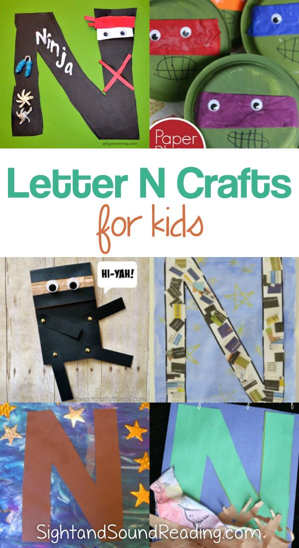 Letter N Crafts Letter N Crafts for preschool or kindergarten - Fun, easy and educational! Students will have fun learning and making these fun crafts!