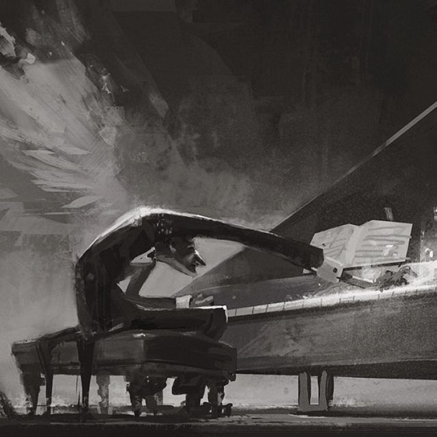 Hard note.  #music #piano #pianist #passion #blackandwhite #musician #concert #illustration #drawing #art #artist #dedication #hardwork #composition #dynamic #stage #performance #legend #picoftheday #artoftheday #instaart #instagood
