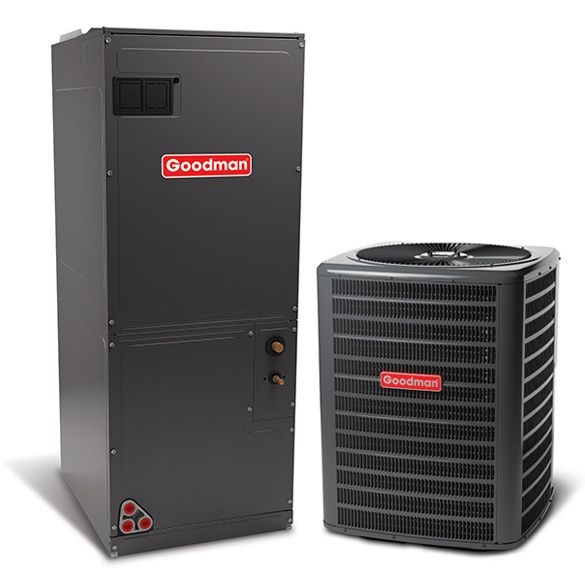 2 5 Ton A C Goodman Gsz140301 15 Seer Central Air Conditioner Heat Pump Multi Position System Heat A In 2020 Central Air Conditioners Heating And Cooling Central Air