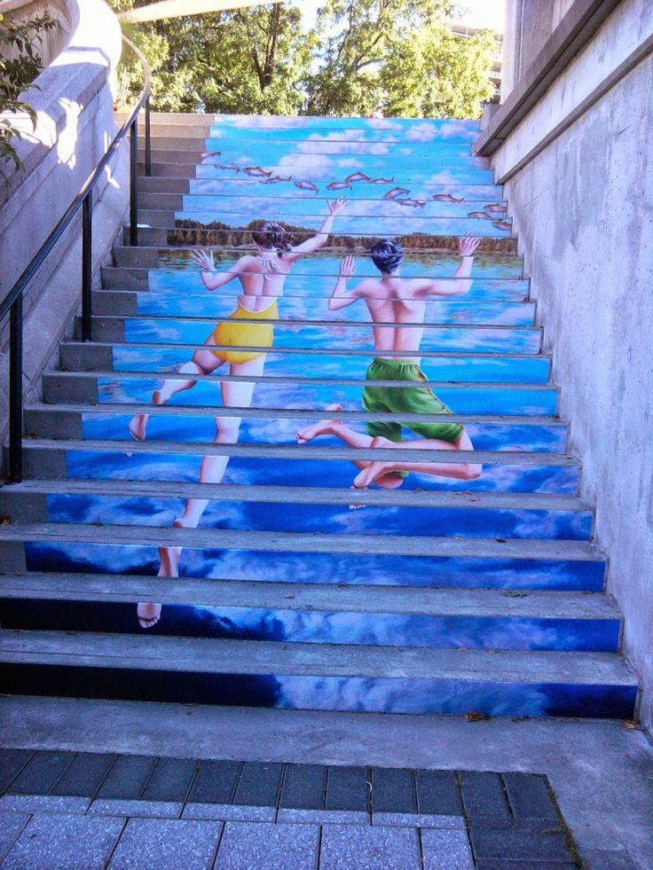 amazing stairs street art around the world, Ottawa - Canada-2