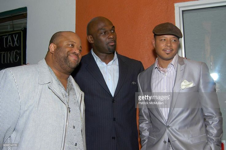 Mark Christopher Lawrence, Tommy Ford and Terrence Howard attend Olympic Artist, Jesse Raudales 'Peace for the Children' Art Show' at Los Angeles on February 9, 2007.