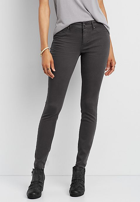cdd97262607 DenimFlex™ jegging in slate | My Style | Jeggings outfit, Jeggings ...