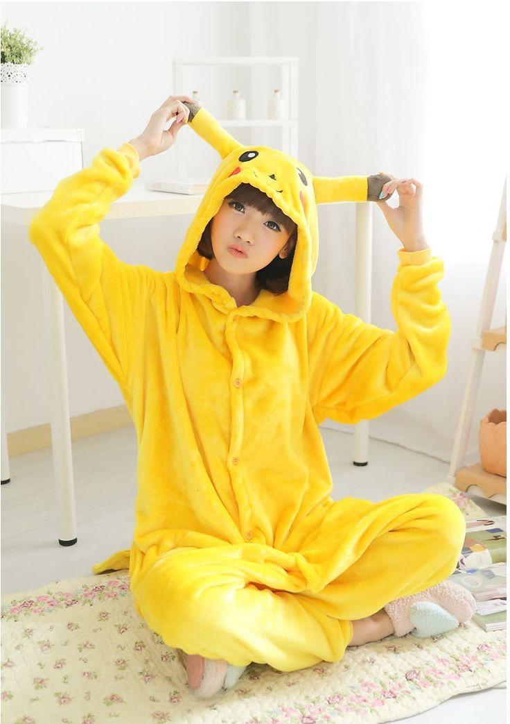 Flannel family animal pajamas one piece onsies onesies cosplay combinaison pyjama pikachu pyjamas pijamas enteros de animales