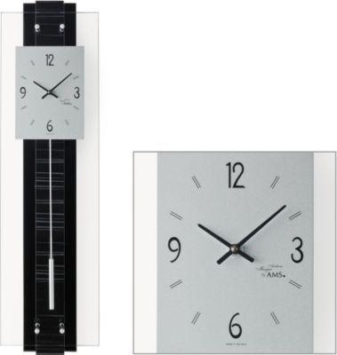 AMS AMS Wanduhr mit Pendel Quarz, Holzrückwand und Design-Struktureinlage Jetzt bestellen unter: https://moebel.ladendirekt.de/dekoration/uhren/wanduhren/?uid=f0279fed-e65b-5827-98e1-5fe0f842d2e1&utm_source=pinterest&utm_medium=pin&utm_campaign=boards #heim #uhren #dekoration