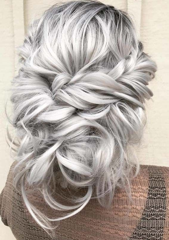 Charming Platinum Blonde Updo Hairstyles Ideas In 2018