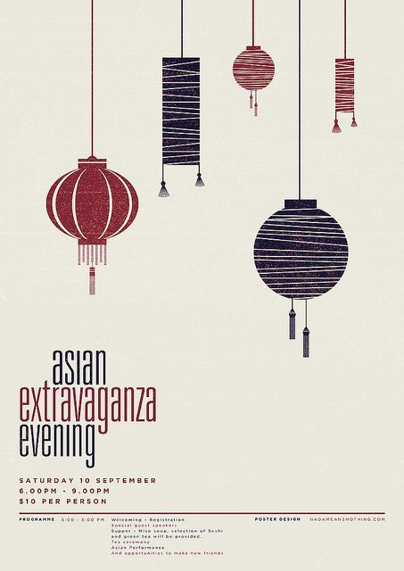 Asian Extravaganza Evening poster by nadameansnothing #design Design  by http://freefacebookcovers.net